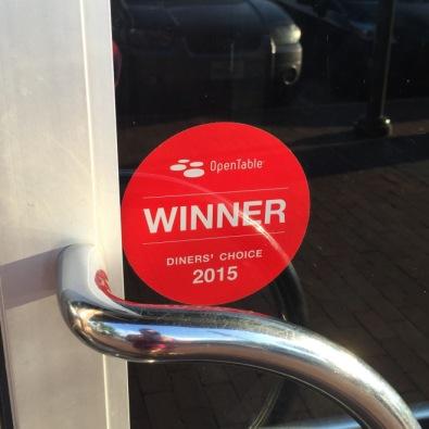 2015 Diner's Choice Winner