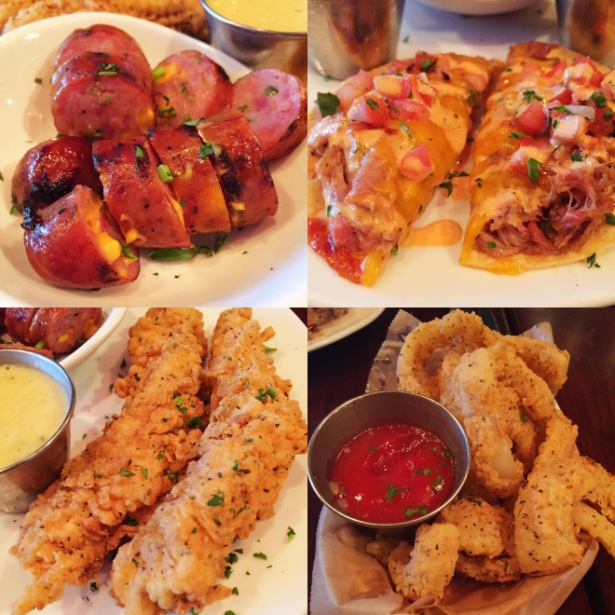 Jalapeno Cheddar Sausage | Pulled Pork Tostadas | Southern Fried Chicken Tenders | Fried Onions
